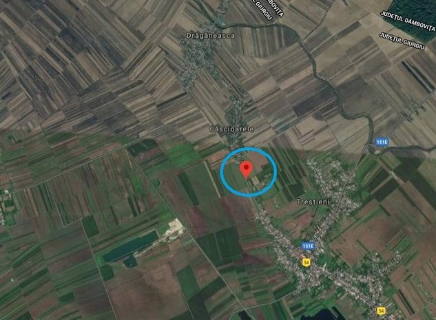 Vanzare teren Ulmi / Trestieni, 4.000 mp, D: 90 m - imaginea 1
