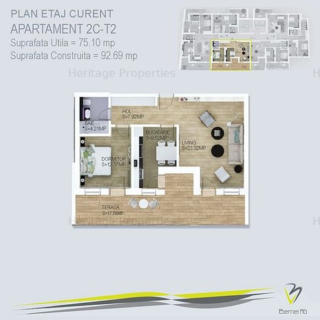 Apartament 2 camere Piata Victoriei - Parcul KIseleff - imaginea 1