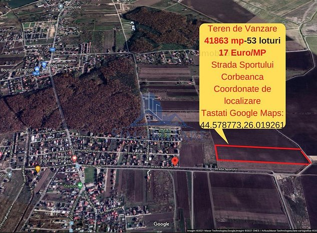 Corbeanca- Oportunitate de Investitie- 53 Loturi de Casa - 17 Euro/mp - imaginea 1