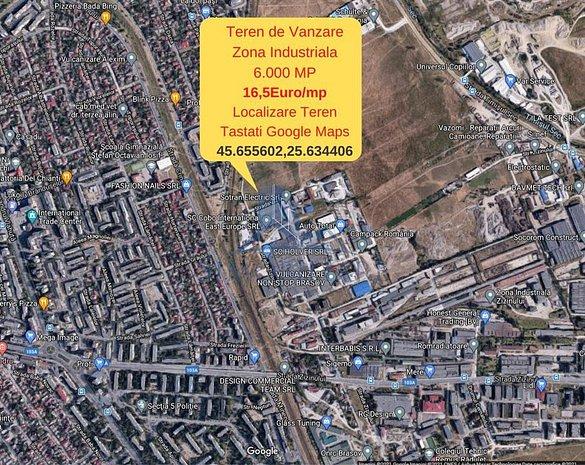 Brasov-Zona Industriala Zizinului- teren 6000 mp- Comision 0% - imaginea 1