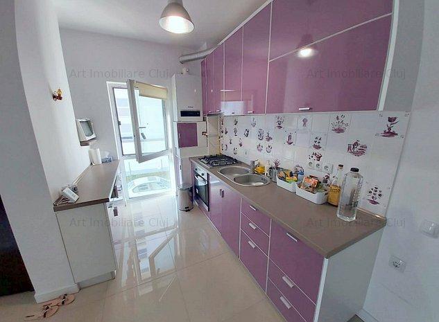 2 dormitoare, 56 mp, decomandat, bloc nou, garaj, in Marasti, zona Iulius Mall - imaginea 1