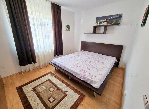 2 dormitoare + living, 80 mp, bloc nou, mobilat modern, parcare, in Buna Ziua - imaginea 1
