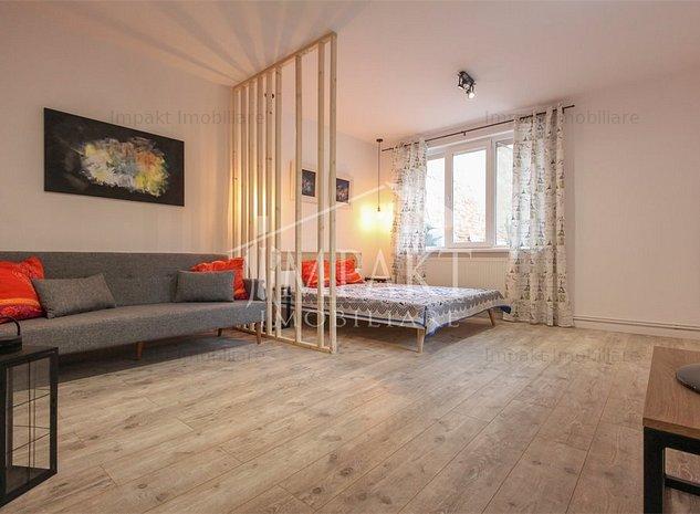 Functionalitate si rafinament in amenajarea unui apartament de 39 m2 CENTRU - imaginea 1