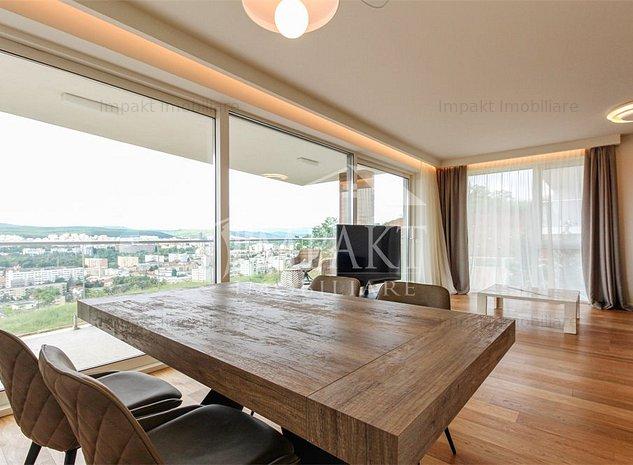 Apartament 2 camere ultrafinisat cu terasa si view spectaculos, Gruia ! - imaginea 1