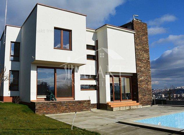 Vila cu piscina 7 camere Grigorescu, teren 800 mp, panorama unica - imaginea 1