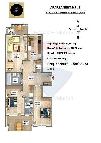 Apartament cu 3 camere in Arca Residence, Calea Feldioarei, nr. 35 C - imaginea 1