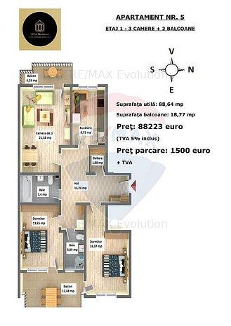 Apartament cu 3 camere in Arca Residence, Calea Feldioarei, nr. 35C - imaginea 1