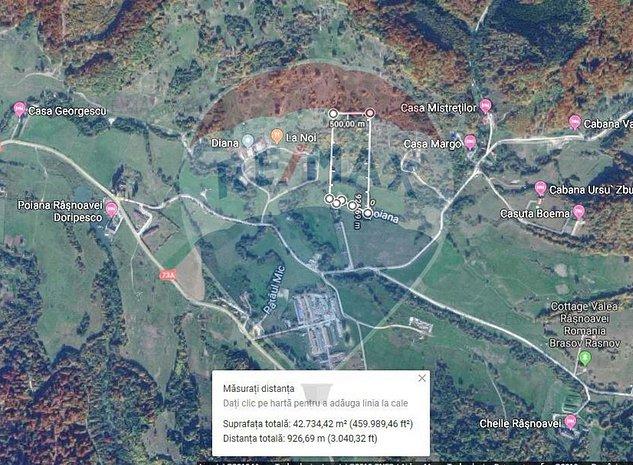 Teren extravilan, 42600 mp, Rasnov, Cheia - Valea Poienii - imaginea 1