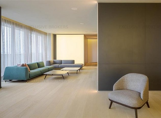 Penthouse smarthome mobilat si utilat lux! 330 mp terasa! Vedere panoramica! - imaginea 1