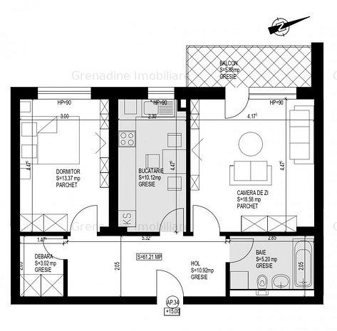 Apartament 2 camere nou in Grandis Residence - Cod 2642 - imaginea 1