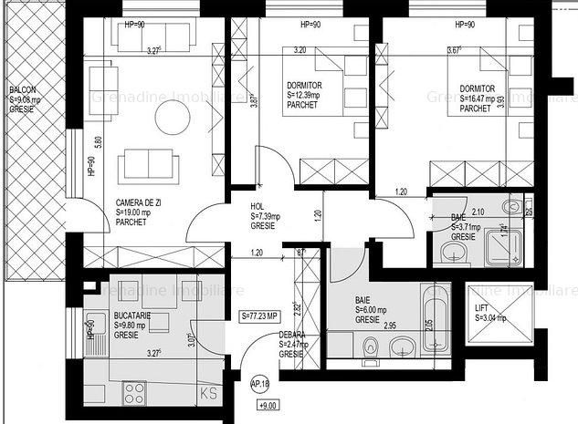 Apartament 3 camere nou in Grandis Residence - Cod 2644 - imaginea 1