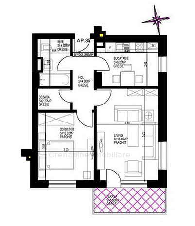 Apartament 2 camere - Grandis Residence - Cod 2729 - imaginea 1