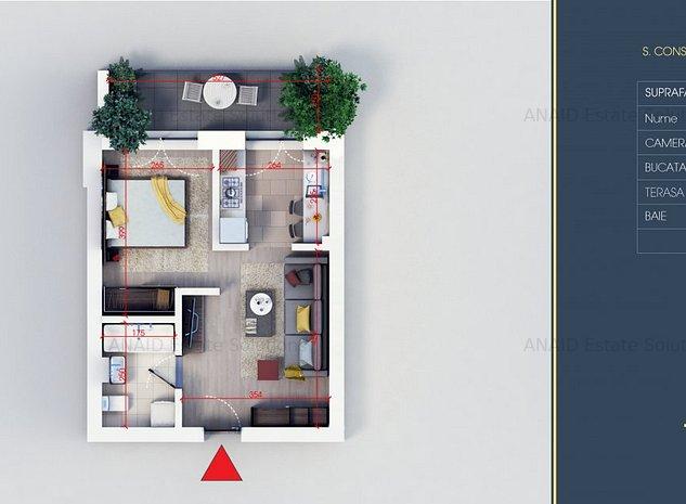 Titan 4 Residence Garsoniera/Studio finalizare 2021 - imaginea 1