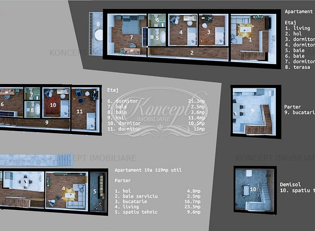Apartament cu 5 camere la vila in Dambul Rotund, zona Lidl - imaginea 1