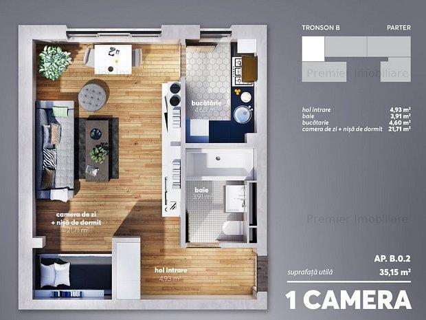 NOU garsoniera - Eden Home Residence - imaginea 2
