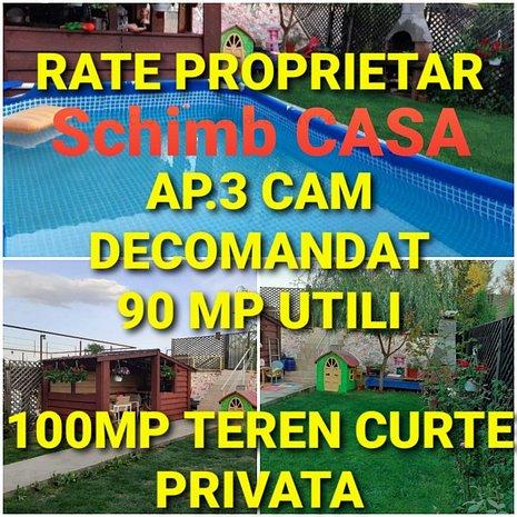 Ap 3 camere 90 mp utili+100mp teren curte,mobilat Craiovei targ Bradu - imaginea 1