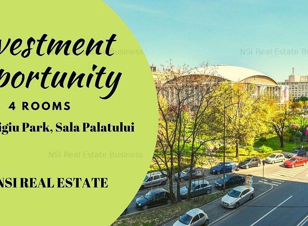 Investment Opportunity || 4 rooms || Cismigiu Park, Sala Palatului - imaginea 1