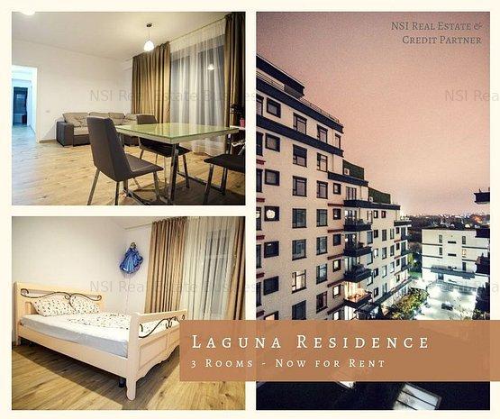 Apartament 3 camere | Vedere Lac || Laguna Residence - imaginea 1