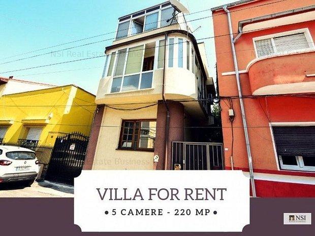 Vila de inchiriat - 5 camere | Mobilata/Nemobilata || Unirii - Mitropolie - imaginea 1