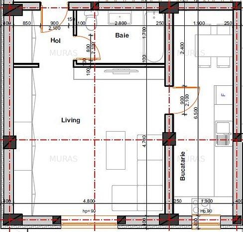 Apartament 1 camera bucatarie separata 44 mp! Direct dezvoltator - imaginea 1