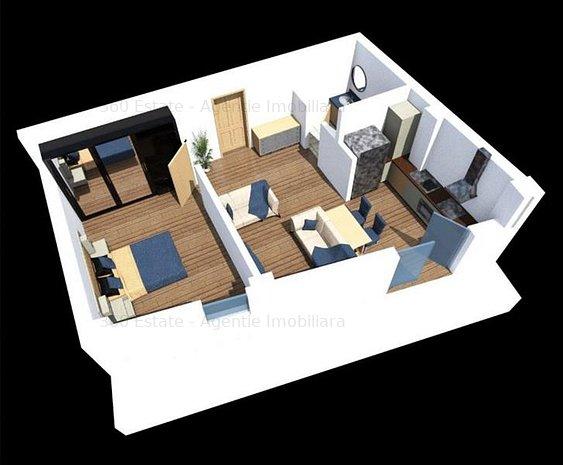 Vand Apartament tip Studio | Semi-finisat | BLOC NOU | COMISION 0% - imaginea 1