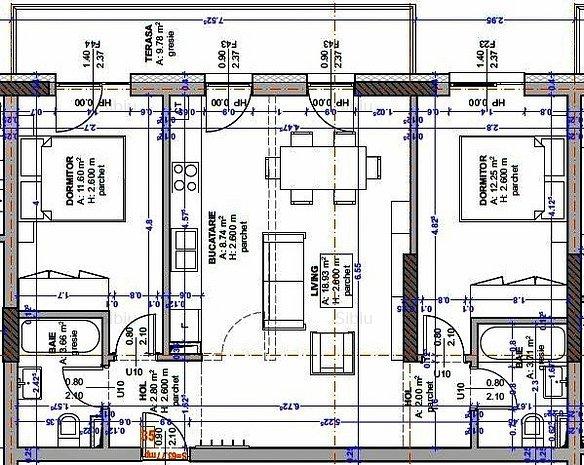 Apartament 3 camere - etaj retras - Calea Gusteritei - zona hotel Libra - imaginea 1