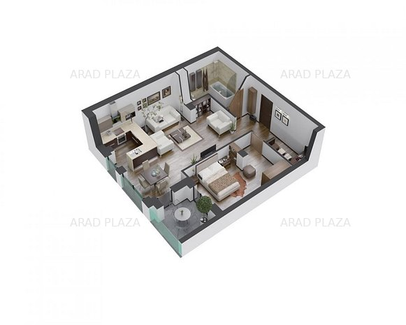 Apartament 2 camere in Arad Plaza - Proiectul premium al anului in Romania - imaginea 1