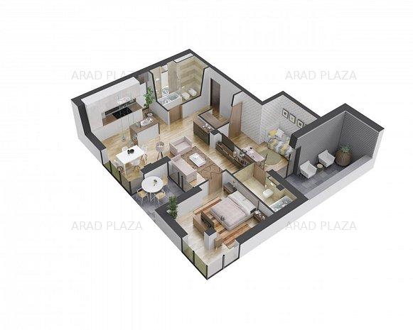 Apartament 3 camere in Arad Plaza - Proiectul premium al anului in Romania - imaginea 1