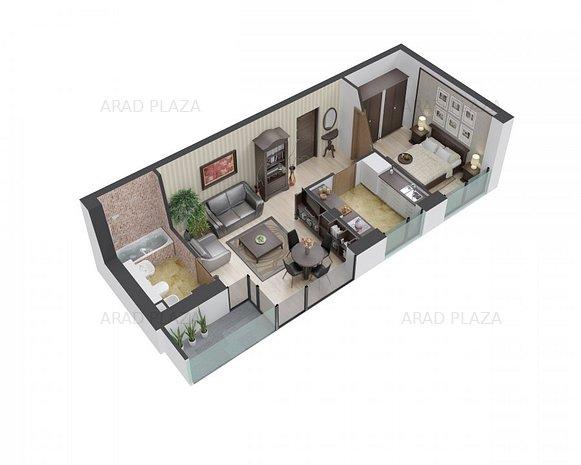 Apartament de tip LOFT in Arad Plaza - Proiectul premium al anului in Romania - imaginea 1