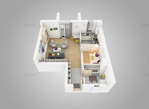 Apartament tip studio de 1.5 camere, Vivalia V6, Iulius Town, predare 05.2021 - imaginea 1