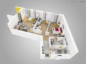 Apartament de vânzare sau de închiriat 3 camere, în Timişoara, zona Tipografilor