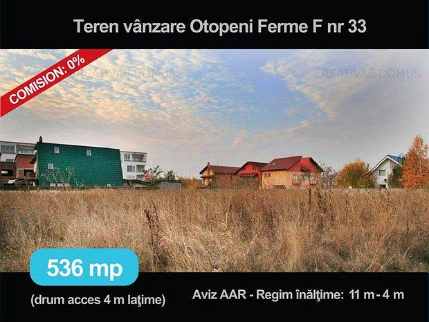 Vanzare, inchiriere teren de 536 mp, in Otopeni sau asociere business - imaginea 1