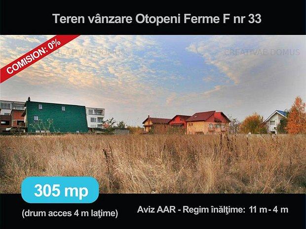 Vanzare, inchiriere teren de 305 mp, in Otopeni sau asociere business - imaginea 1