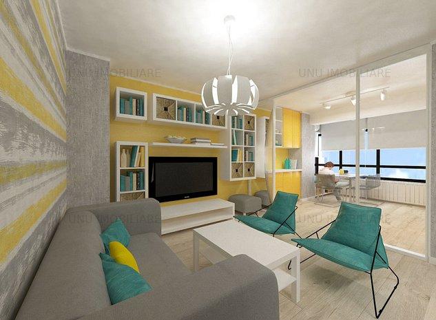 Apartament o camera Ideal pentru investie la 5 minute de Podu Ros in Bucium - imaginea 1