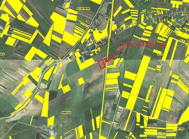 Teren arabil 20000 mp Brasov zona Hanul din Ardeal -Comison cumparator 0% - imaginea 1