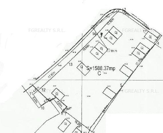 Teren Obor - 1588 mp AC valabil - 22 apartamente - imaginea 1