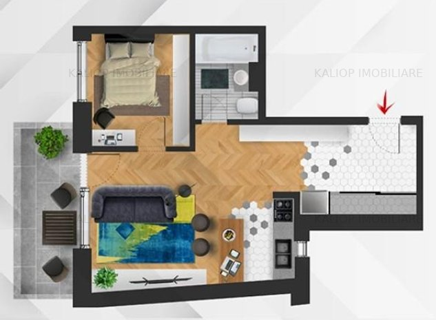Apartament 2 camere | imobil nou | TVA inclus | Centru | zona Horea - imaginea 1