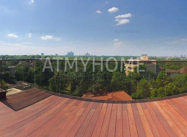 Duplex penthouse spectaculos cu 4 camere, partial mobilat, terase 48mp,3 parcari - imaginea 1