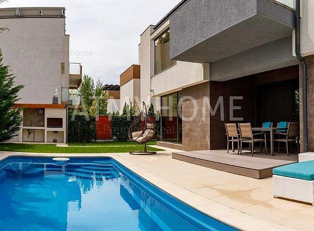 Vila cu arhitectura mediteraneana cu finisaje premium, mobilata complet - imaginea 1