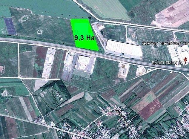 Autostrada Bucuresti-Pitesti(km 23) teren constructii 93000 mp - imaginea 1