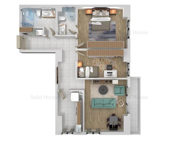 Rate-3 camere la Solid House Constata,zona Salvare - imaginea 1