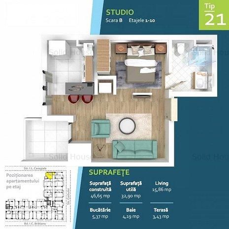 Studio la cheie Ansamblu rezidential Zona Intim Rate la Dezvoltator - imaginea 1