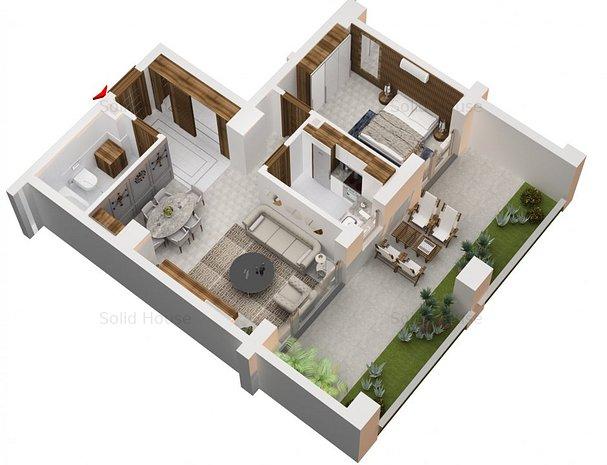 2 camere La Cheie Sistem Smart Home Solid Residence Faleza Nord - imaginea 1