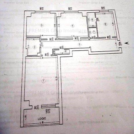 Apartament 3 camere, Alexandru cel Bun - Piata Voievozilor, 75mp - imaginea 1