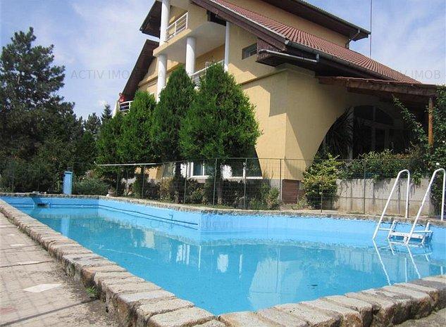 Vila 15 camere, 1330mp curte, piscina,ideal pt. afacere, Rosu-Chiajna - imaginea 1