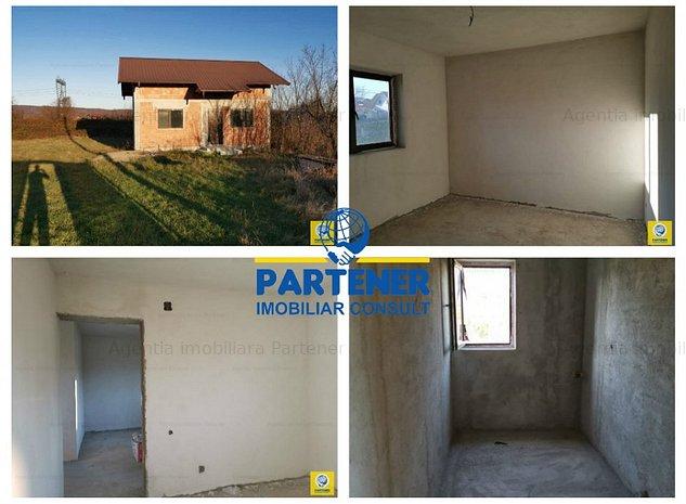 Casa P+M, Bascov-Stejaret, constructie 2011, teren 490 mp, semifinisata - imaginea 1