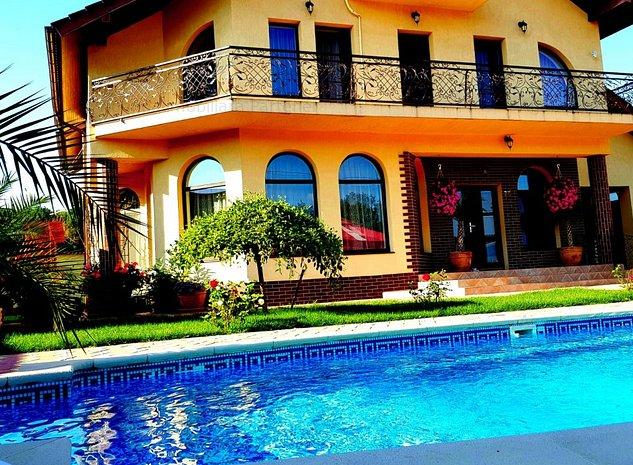 Casa cu arhitectura si finisaje deosebite, zona Trivale, teren 750mp, piscina - imaginea 1
