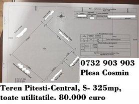 Teren constructii de vânzare, în Piteşti, zona Central