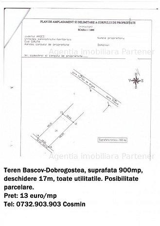 Teren Bascov-Dobrogostea, 900 mp, toate utilitatile - imaginea 1