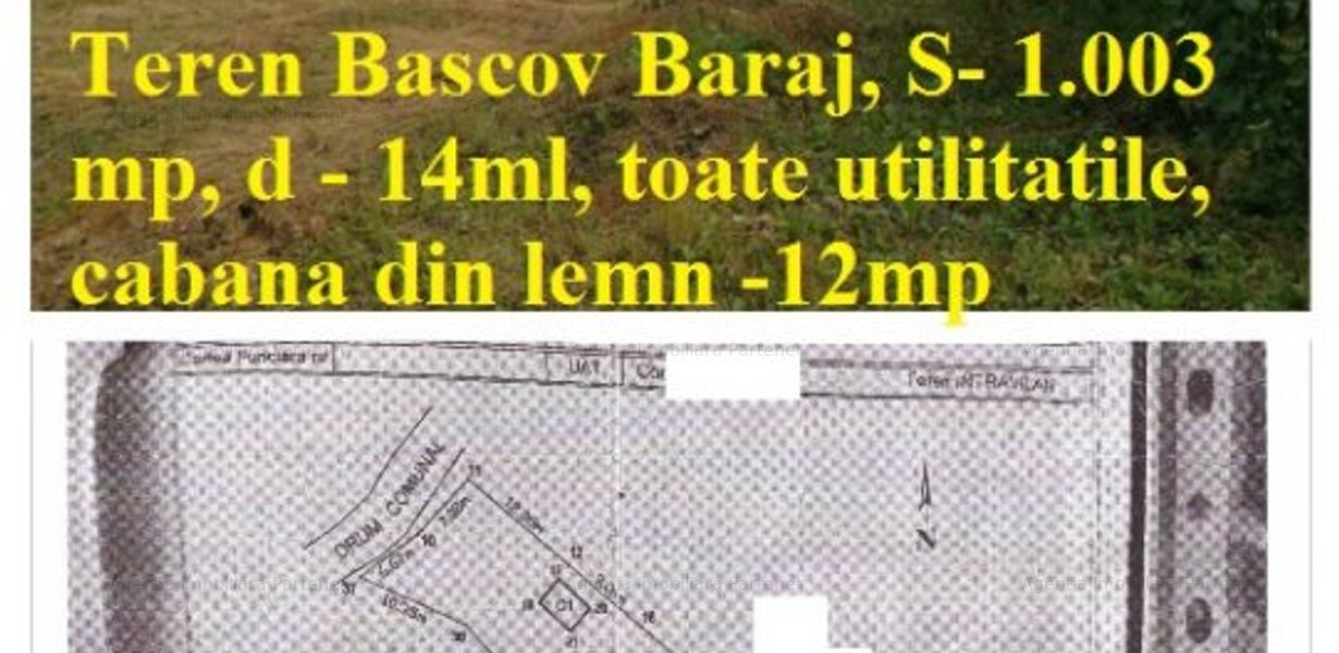 Teren BASCOV- BARAJ, 1.003mp, toate utilitatile - imaginea 2